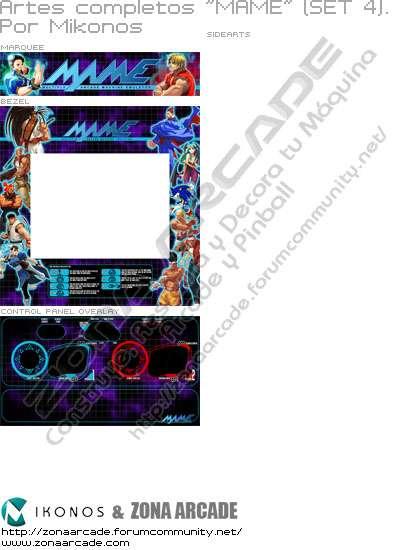 """Artes completos para decorar máquina recreativa """"Mame (set 4)"""""""