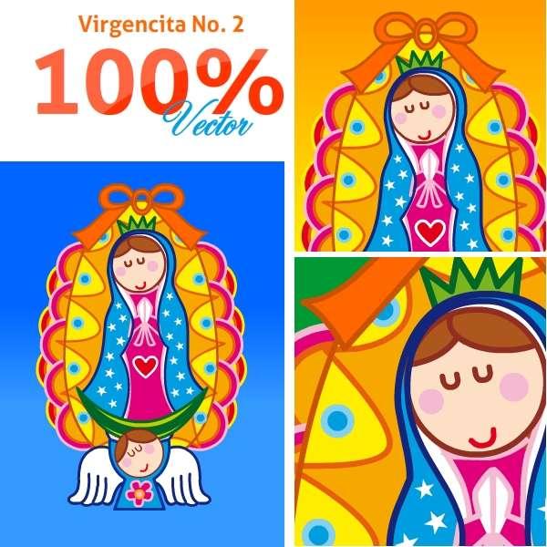 Virgencita plis vectores - Imagui
