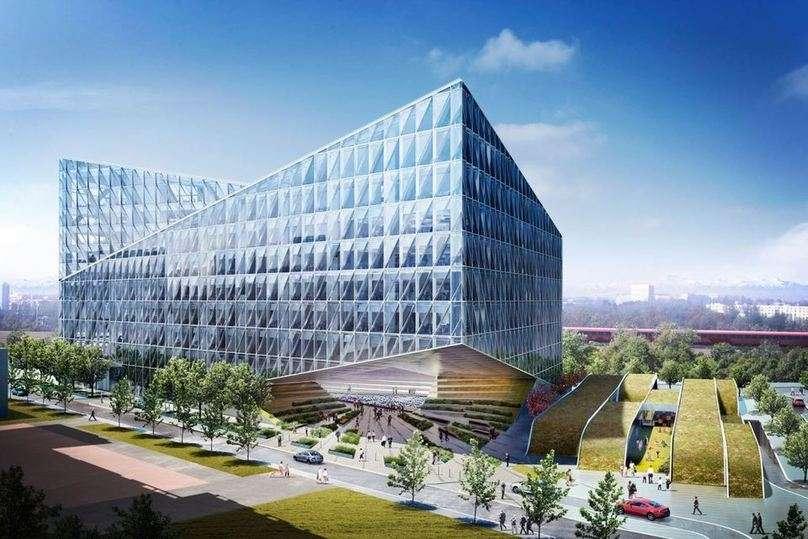 Geneve le nouveau si ge de jti skyscrapercity for Construction piscine geneve