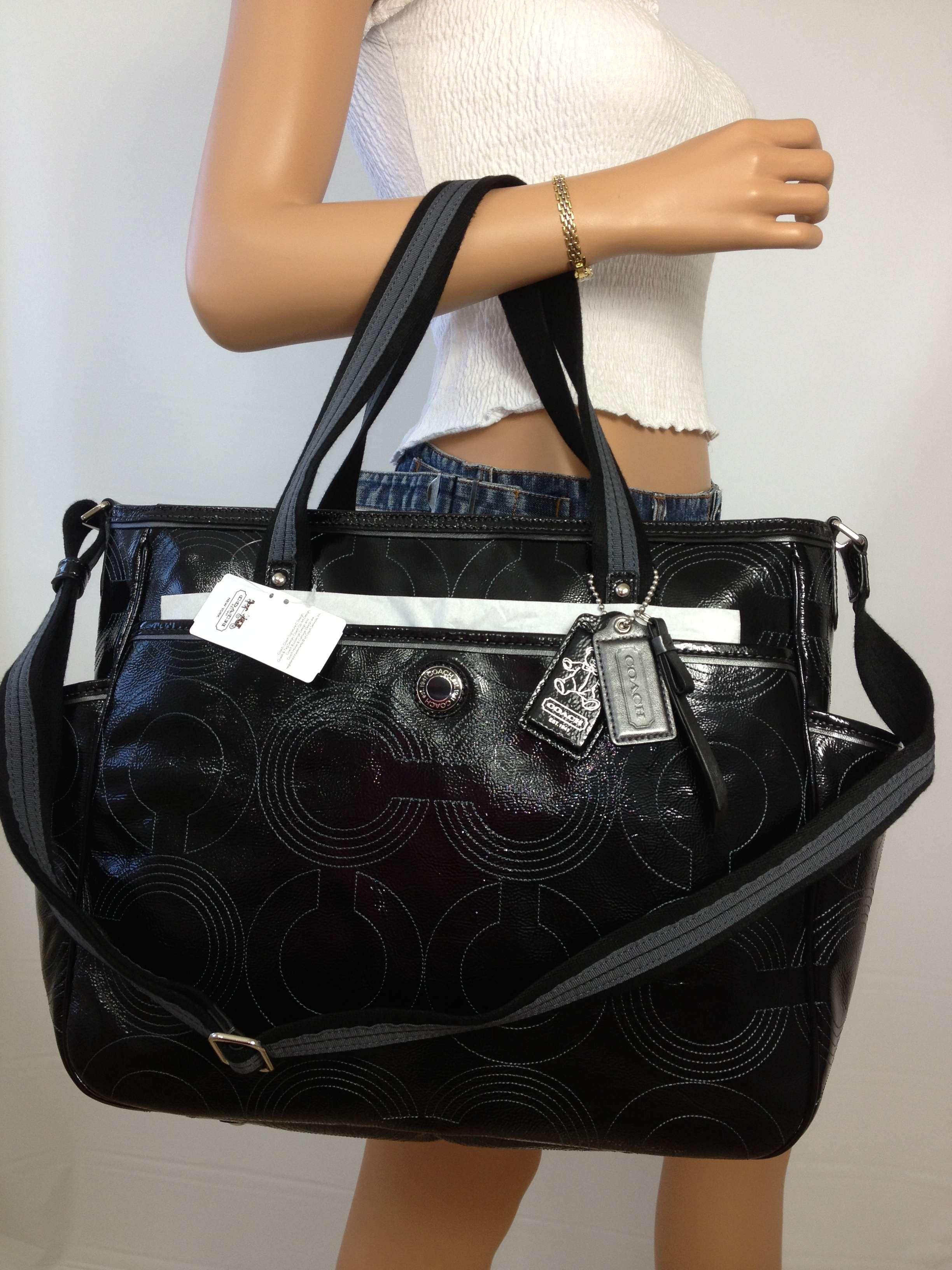 coach black purse outlet  coach black baby