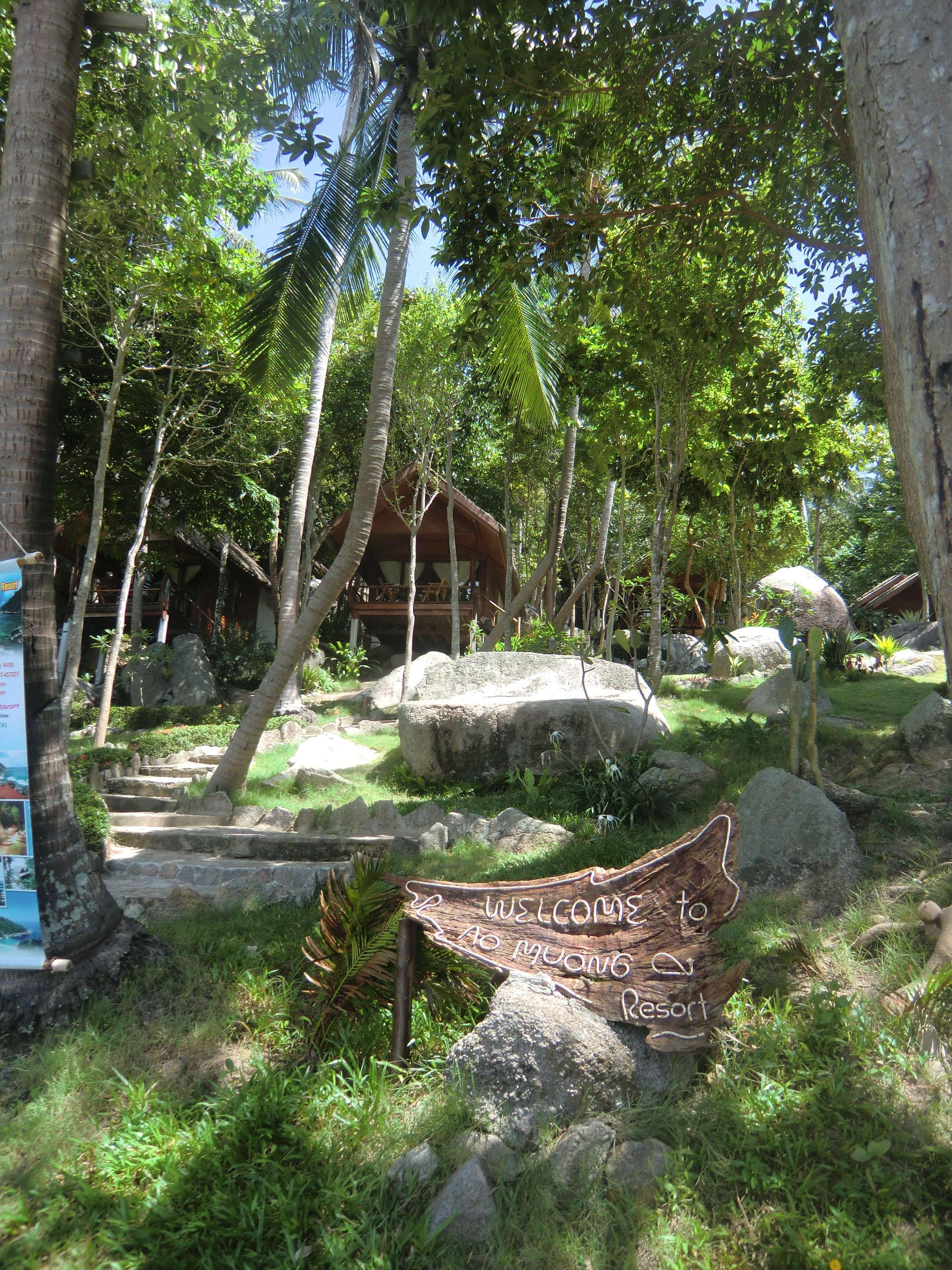 noch ein Blick auf die Hütten am Hang für ab 2500 THB