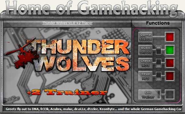 Thunder Wolves +2 Trainer [HoG]