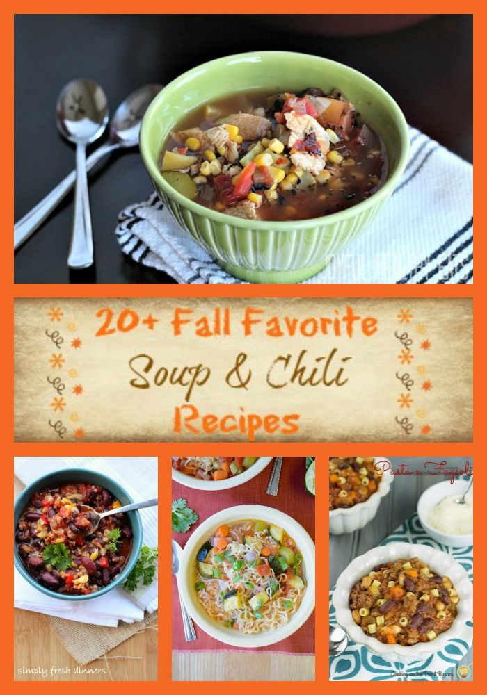 20+ Fall Soup & Chili Recipes on The Tasty Fork. www.thetastyfork.com