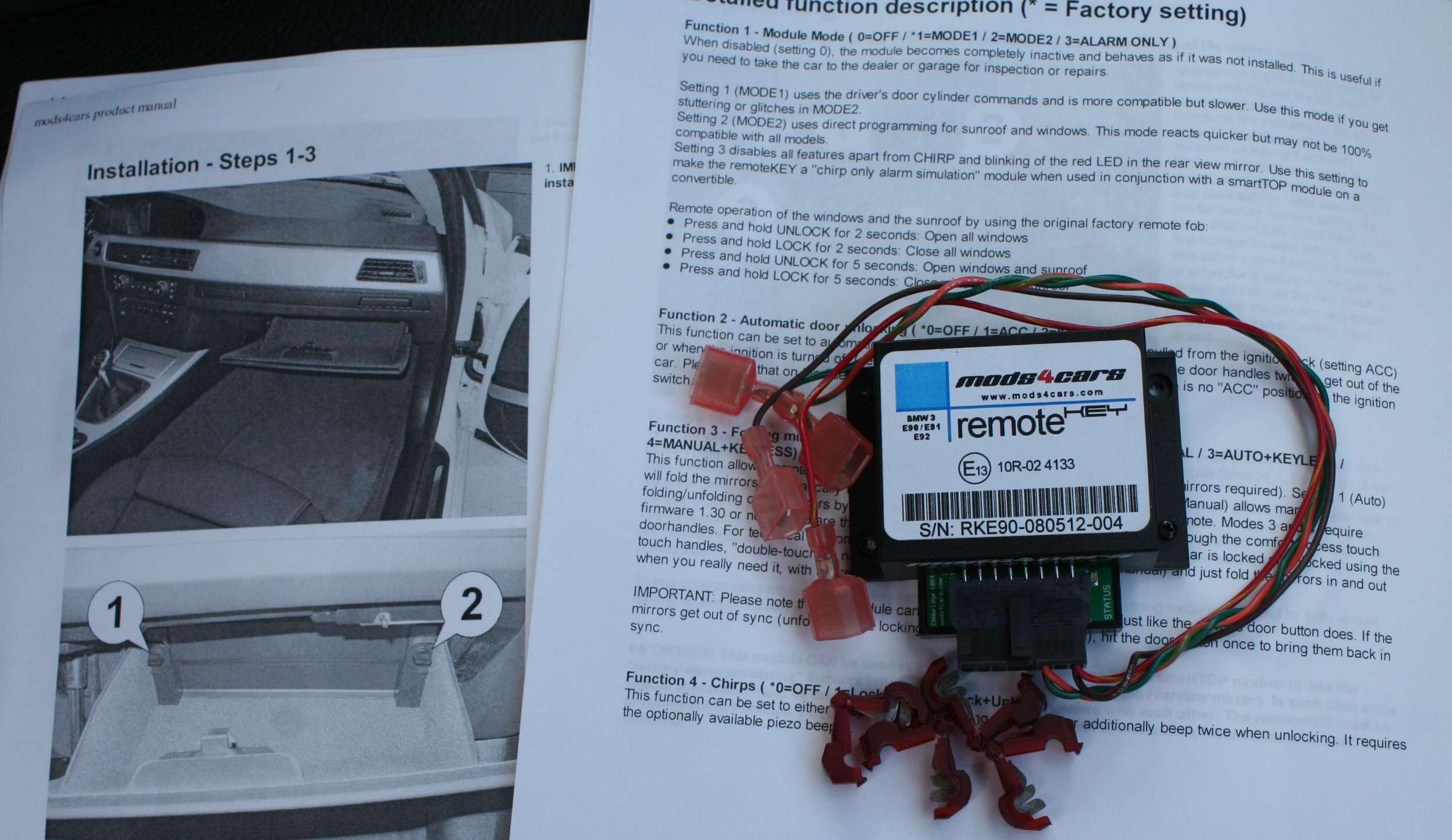 Bimmerfest - BMW Forums - V1, Euro rear fog and Remote Key mod